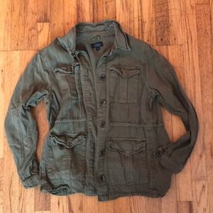 Topshop Military Jacket green.  SIZE US 8.